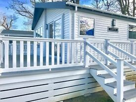Brand New Lodge for sale Thorness Bay Holiday Park, Isle Of Wight, not a static caravan, gorgeous