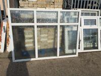 Large upvc fixed window H: 134 cm, W:183 cm