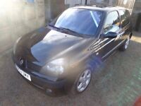 2003 Renault Clio Dynamique 16V 1.2 Petrol Black 3 Door Low Miles Long MOT Warranty Available