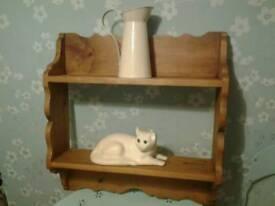 Solid wood shelfs shabby chic