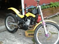 Scorpa 250 Easy trials competition bike, Rotax engine, paolli forks, delorto , no dents alloy rims