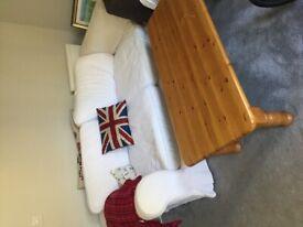 Spacious 2 seater sofa