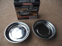 POWERFIX Magnetic Stainless Steel Trays (Set of 2)