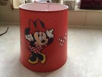Mini mouse Disney light lamp shade excellent condition
