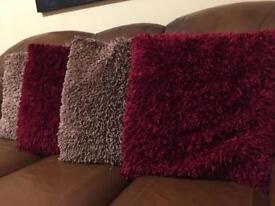 Chenille Cushions x 4