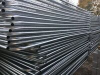 40 X new heras style site security fencing sets (panels, feet, clips)