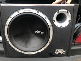 VIBE 1600 watt sub with built in amp