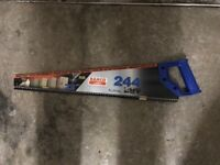 "Brand New Bahco 22"" 550mm Hand Saw, Wood Timber Cutting"