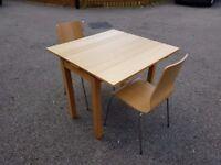 Ikea Bjursta 50-90cm Oak Veneer Exending Table & 2 Chairs FREE DELIVERY 128