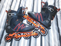 K2 FIT 84 Boa 2017 Mens Inline Skates size 10 - with Large Seba backpack *LOOK*