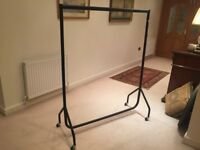 Black clothes rail in excellent condition