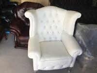 Chesterfield leather wing