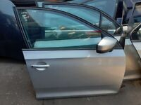 2013 SKODA RAPID Driver Side Front Door Silver (LA7W), no side mirror