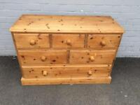 Solid pine chest of drawers (delivery available)