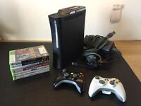 * XBOX 360 ELITE 120GB * 2 CONTROLLERS * 7 GREAT GAMES! *