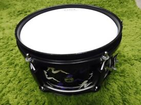 AD Custom Side Auxiliary Snare Drum. Maple 10x5 Shell. Brand New Head Fitted