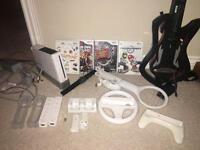 ORIGINAL Wii - BUNDLE WITH GAMES & GUITAR