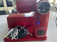 Morphy Richards Red folding stand mixer