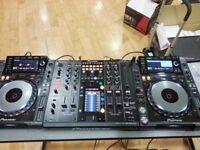 2 x CDJ 2000 Nexus and 1x DJM 2000 Nexus + Speakers