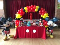 Mickey Cake Table & Balloon Arch - Soft Play - Bouncy Castle