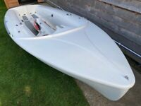 International 420 Sailing Dinghy Hull Ideal project, fishing boat or garden feature