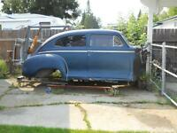 project car 1947 plymouth special deluxe 2 door post