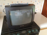 ALBA 35cm television with remote control. Works good.