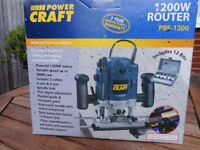 Power Craft 1200w Router PBF 1200 Inc. 12 Pieces with Additional Set Of Pieces