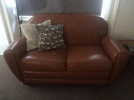 Leather Seater Sofa (almost new from the 'Made' website)