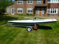 Laser 1 Dinghy with launching trolley and trailer