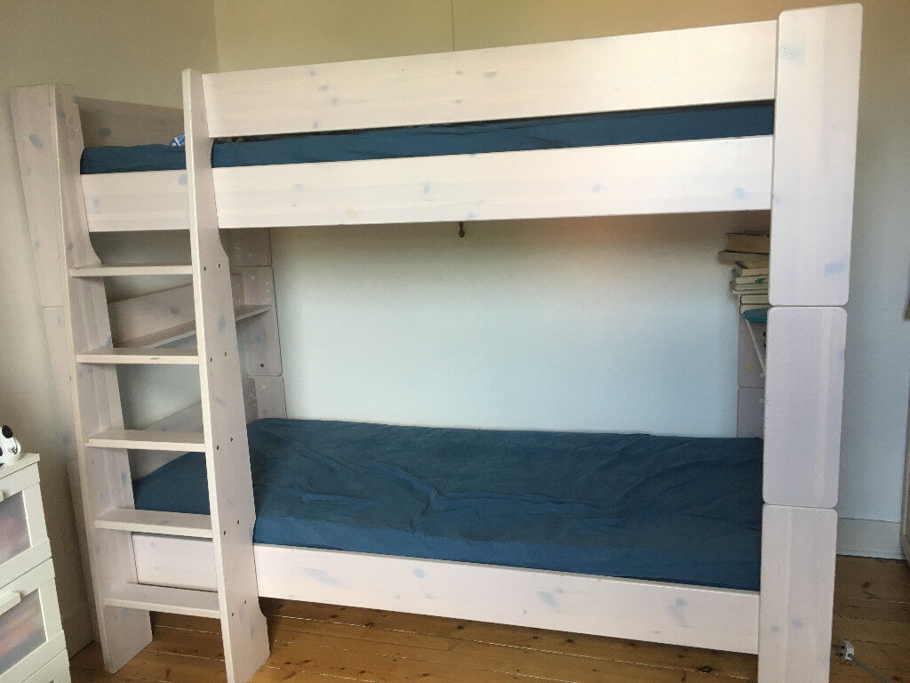Bunk Bed Steens Bunk Bed White Wash European Single Size