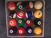 BRAND NEW Pool and Snooker Balls