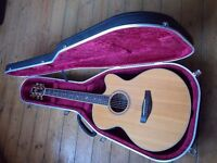 Yamaha CPX8 Electro Acoustic Guitar & Hiscox Case