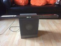 home cinema, sound bar and base speaker