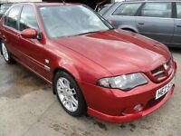 mg zs 1.8 petrol met red 2006 60000 miles one owner full years mot