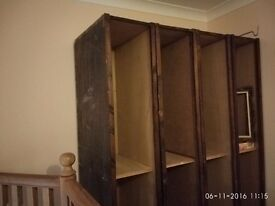 Wooden Ex display cabinets/upcycling project.
