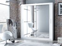 🔴🔵5-AWESOME COLOR🔴🔵EXCLUSIVE QUALITY CHICAGO 203CM SLIDING MIRRORS WARDROBE WITH LED LIGHT