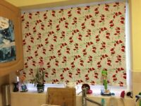 Nearly New, Hardly Used Kitchen Roller Blind For Sale, Red Poppies £35 Reduced to £30 For Quick Sale