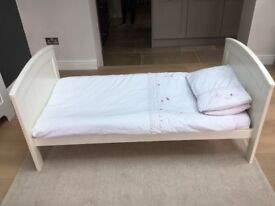 Mamas and Papas Toddler Bed (White)