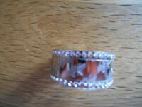 Swarovski Silver Dress Ring - Size 58