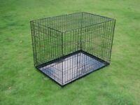 Fold Flat Dog Training Crate - Small