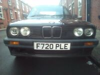 BMW E30 318i Auto 12 MONTH MOT. 3 door, Black 1988. 3 series