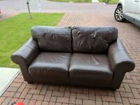 FREE - Two sofas, small book case and standard lamp