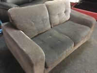 New/Ex Display Dfs Charcoal Grey 2 Seater Sofa
