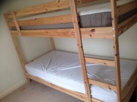 Bunk bed with Hammarvik mattresses