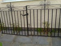 Garden Gates wrought iron very heavy gates £40