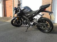 125 Yamaha MT, 2016 reg, £2999 ono.