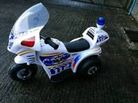 Boys electric police bike