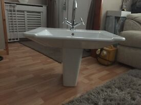 Cook and Lewis half pedestal sink