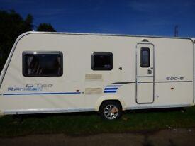 2010 Bailey Ranger GT60 500/5 5-berth touring caravan plus awning.